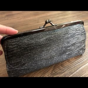 Black and Silver Clutch Wallet